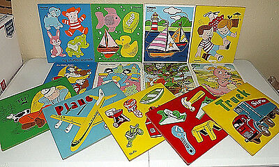 Playskool Connor Sifo Wooden Puzzles Lot of 13