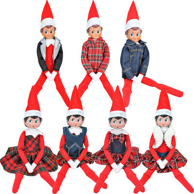 Claus Couture Clothing Dress For The Elf on the Shelf Plush Doll Decoration Gift