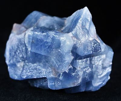 ** Ice Blue Calcite Crystal Rough Mineral Specimen From Mexico 2.8 Ounces **