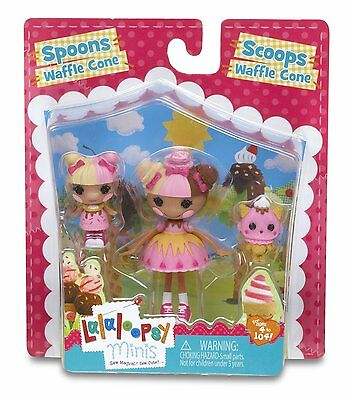 Lalaloopsy  Mini Sisters , Scoops Waffle Cone/ Spoons Waffle Cone **brand New**