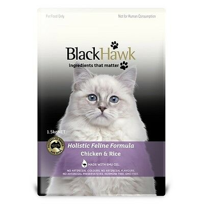 Black Hawk Cat Food Chicken & Rice 1.5Kg-SYD Stock