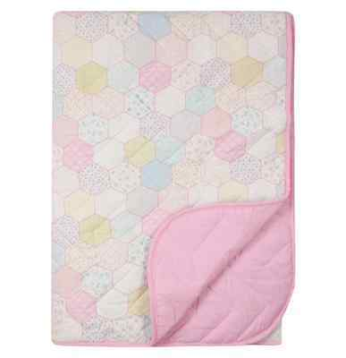 Girls Patchwork Throw Floral Vintage Single Bed