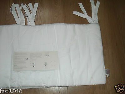 John Lewis Baby Nursery Cot Cotbed Bumper Cotton White New