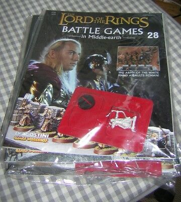 LORD OF THE RINGS ~ Battle Games in Middle Earth # 28 ~ mag & figure ~ sealed