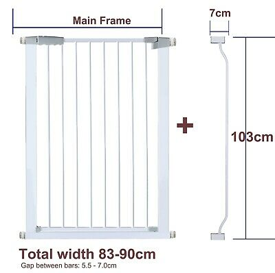 103CM High Adjustable 82-91CM Baby Pet Child Safety Security Gate Stair Barrier