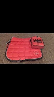 Eskadron coral pink saddle pad and bandages