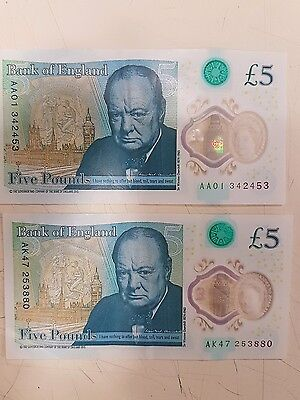 Five pound notes ak47 and aa01
