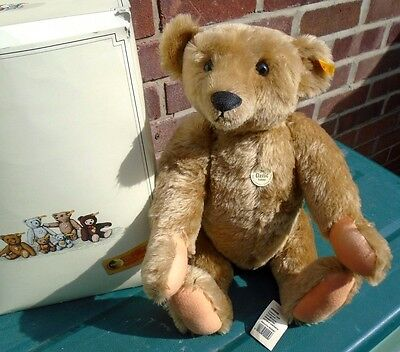 "Boxed STEIFF Growler 20"" Teddy Bear CLASSIC 1906 000256 Jointed Mohair Retired"