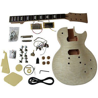 DIY electric guitar kits, GD770 Solid Mahogany body with Quilted Maple