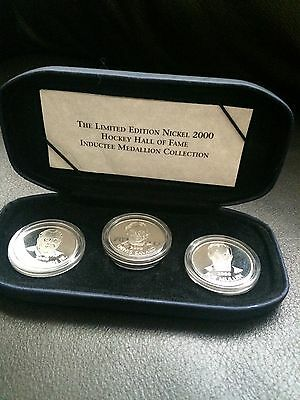Limited Edition Nickel 2000 Hockey Hall Of Fame Inductee Medallion Collection