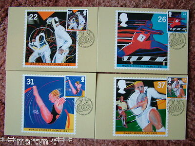 PHQ Stamp card set FDI Front No 135 Sport 91, 1991. 4 card set  Mint Condition
