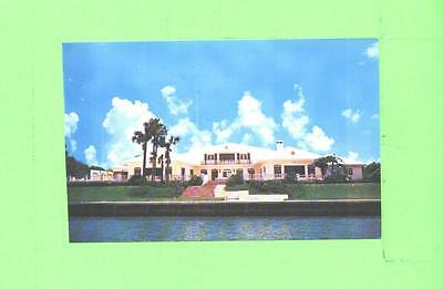 J Postcard Waterfront Home On Biscayne Bay Of Fred Hooper