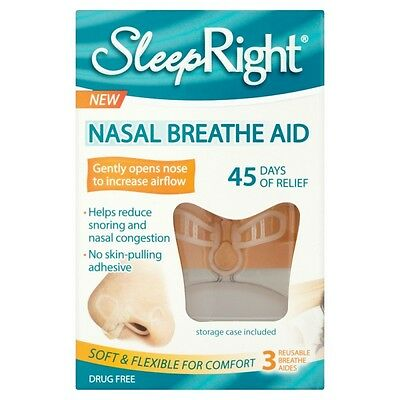 SleepRight Ecarteur Nasal Anti-Ronflement (pack de 3)