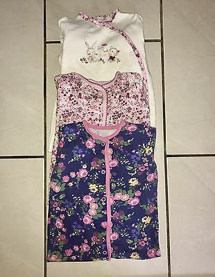 Baby Girl 3 x Mothercare Baby Grows 9-12 Months