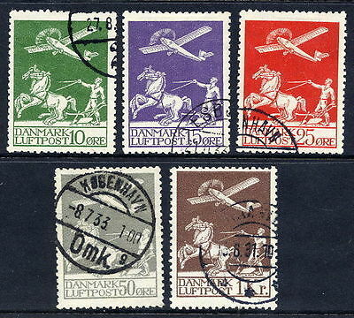 DENMARK 1925-29 Airmail set used