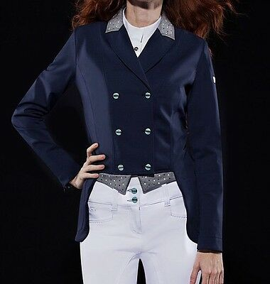 Animo Lastra Show Competition Dressage Tails Jacket i42 Navy Blue BN