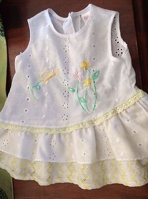 Baby Girl Broderie Anglaise Party/Summer Dress 0