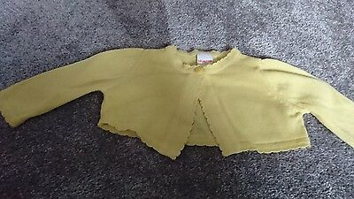 baby girl yellow cardigan from Bluezoo age 0-3 months