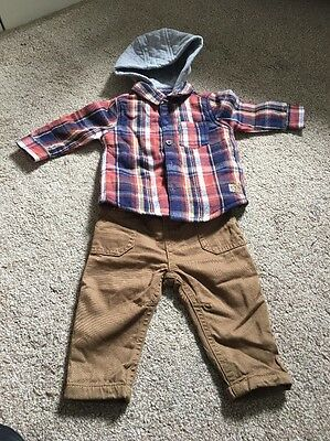 Baby Boys Trousers And Shirt Age 0-3 Months