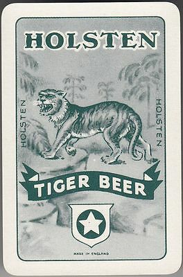 Playing Swap Cards  GENUINE 1 single only VINTAGE HOLSTEN TIGER BEER RARE!