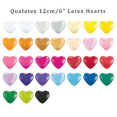 "30+ Colours 12Cm/6"" Mini Heart Latex Balloons 10-Pack Birthday Party Wedding"