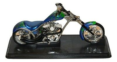2003 Muscle Machines West Coast Choppers by Funline ~ Blue/Green Motorcycle