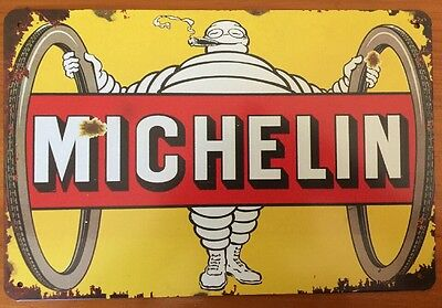 MICHELIN Vintage Retro Metal Tin Sign Plaque Garage Bar Pub Cave Home Decor Au