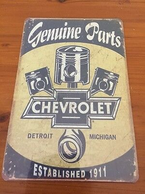 Chevrolet GARAGE Tin Metal Sign Rustic Look MAN CAVE Brand New AU SELLER