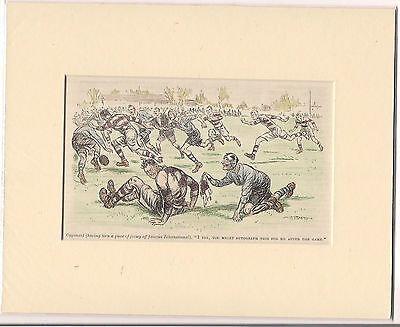 Vintage 1926 Punch RUGBY Cartoon ready for framing