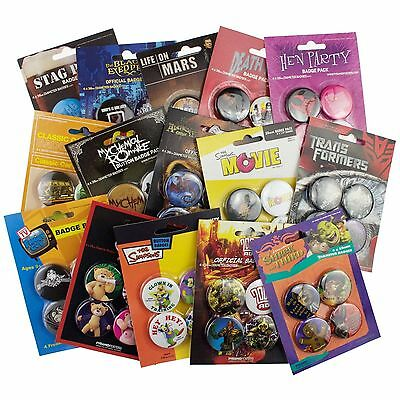 150 x New Pyramid Posters Official 38mm Badge Packs Wholesale Job Lot