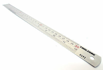 "Stainless steel ruler 12"" /  / straight edge / rule / measuring New TZ MS100"