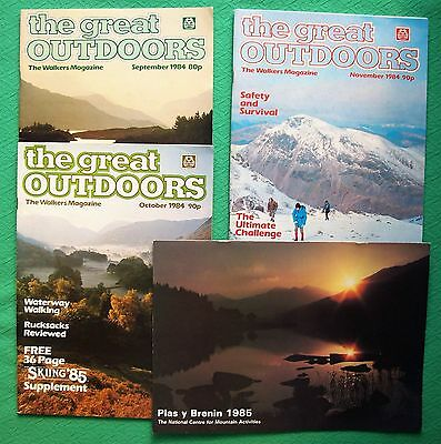 3 Vintage THE GREAT OUTDOORS Magazine Sept-Oct-Nov 1984 The walkers magazine