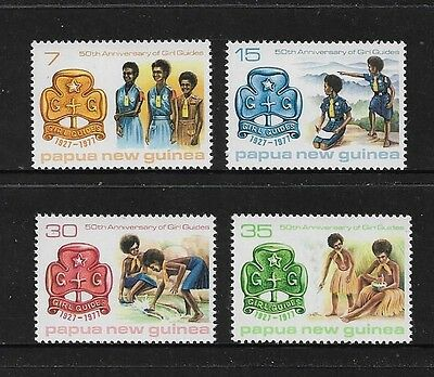 PAPUA NEW GUINEA - mint 1977 Girl Guides 50th Anniv, No.2, set of 4, MNH MUH