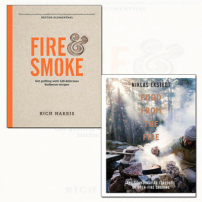 Fire & Smoke and Food from the Fire 2 Books Collection Pack Set NEW Paperback UK