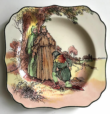 royal doulton square plate bowl under the greenwood tree robin hood D6341