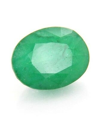 3 Ct Certified Emerald In Excellent loose Ovel Shape