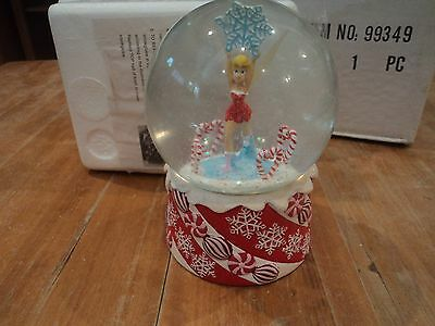 Splendide snowglobe theme Noel DISNEY FEE CLOCHETTE/THINKER BELL neuf