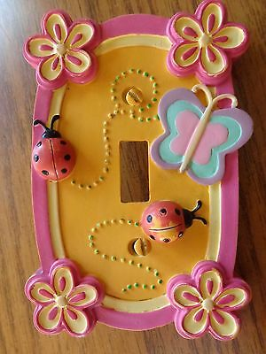 Girl's Decorative Bedroom Decor Light Switch Cover Butterflies Lady Bugs