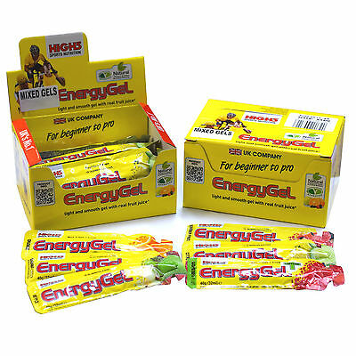 HIGH 5 FIVE 2 FULL BOXES ENERGY GELS MIXED FRUIT FLAVOURS 40g/32ML x 40 SACHETS