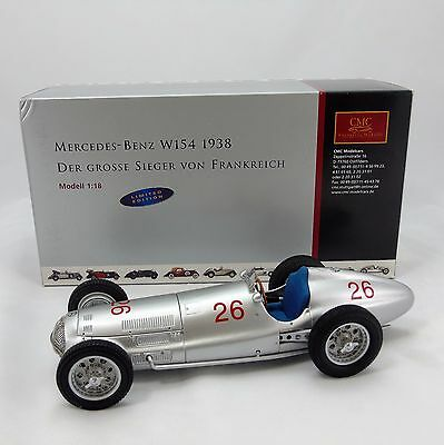 CMC Modell 1:18 Mercedes Benz 1938 W154 Limited Edition No 333/1000 Boxed