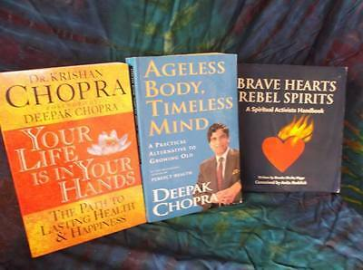 "Look! New Age/ Esoteric/ Spiritual/ Metaphysical Book Lot-""deepak Chopra"" Lot#50"