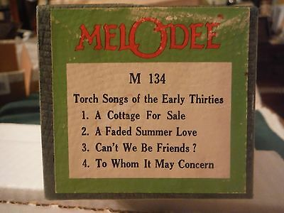 Melodee roll-  Torch Songs of the Early Thirties    M 134