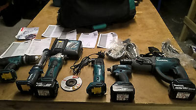 Makita DLX6021M 18V 4.0Ah Li-Ion LXT Cordless 6-Piece Power Tool Kit