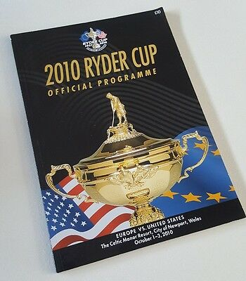 2010 Ryder Cup Golf Official Programme Celtic Manor