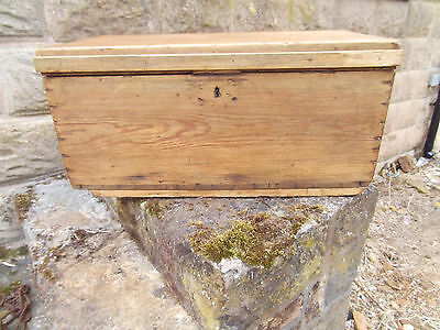 Vintage Large Rustic Solid Waxed Pine Chest-Coffee Table-Storage Box-T.v.-Phone