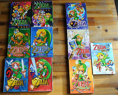 Lot 10 mangas ZELDA (Soleil) Link to the past, Ocarina, Four Swords, Seasons