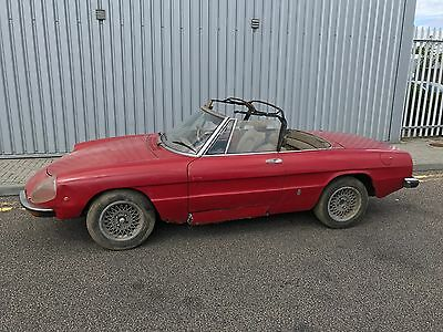 Alfa Romeo 1750 kammtail Spider project - very rare RHD car.