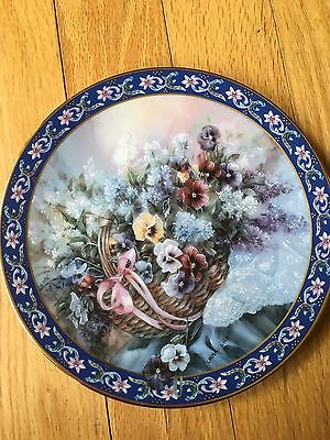 "Pansies""~ Second issue in Lena Liu's Basket Bouquets Plate Collection"