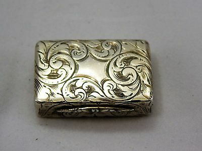 Sterling Silver Vinaigrette Edward Smith 1848 Birmingham