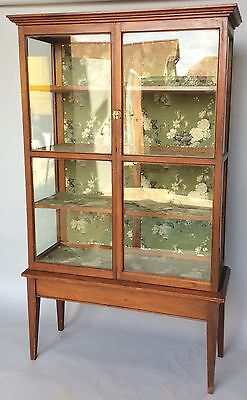 Antique Large Mounted Glass Display Cabinet - Possibly Victorian